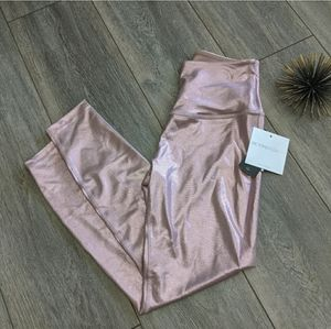 Beyond Yoga pink dusted high waisted midi legging